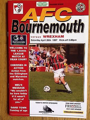 Bournemouth v Wrexham 1996/97 programme