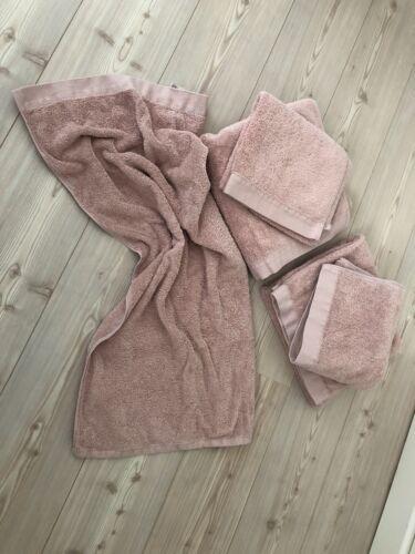 Floringo Handtuch Set Rosa Fast Neu Frottee Baumwolle 5 St. Sommer Impressionen