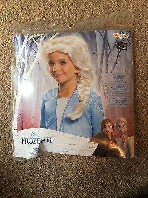 Disney Girls Frozen 2 Elsa Snow Queen Costume Blonde Braid Wig Toddler Child
