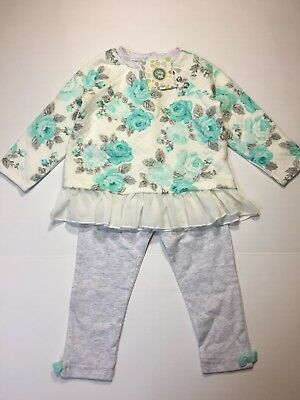NEW! Little Me Baby Toddler Girls Size 2T Pants Sweater 2 Piece Winter Fall