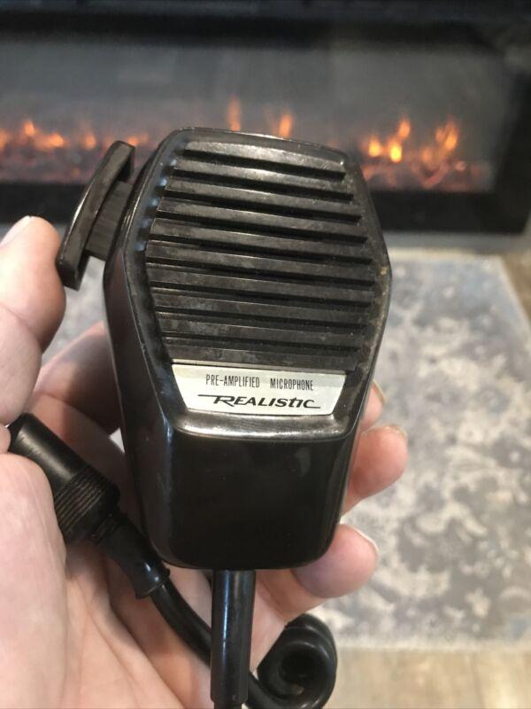 Vintage Realistic 21-1171 Handheld CB Radio Pre-Amplified Microphone