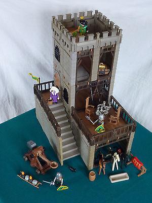 Playmobil Festung Turm Ritterburg Ritter Katapult Erweiterung Burg 3666 (751)