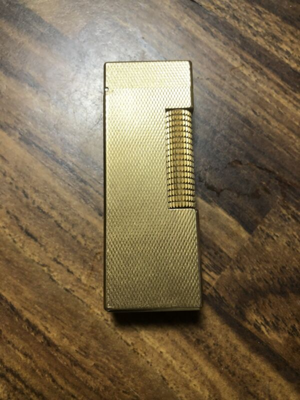 Vintage Dunhill Rollagas Lighter Gold Plated Swiss  New Orings Flame Valve Seal