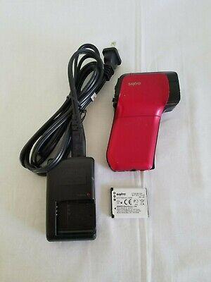 SANYO VPC-CG10 40 MB Digital Camcorder -  Red -