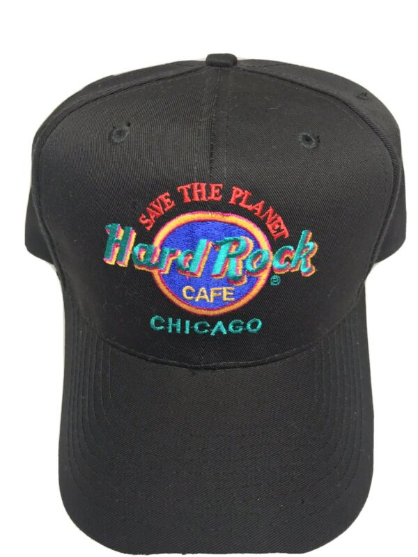 HARD ROCK CAFE Chicago Black SAVE THE PLANET HAT Baseball Cap