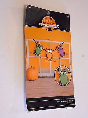 Cute Glitter Owl Garland Kit  Arts & Crafts Halloween TRICK OR TREAT Decoration