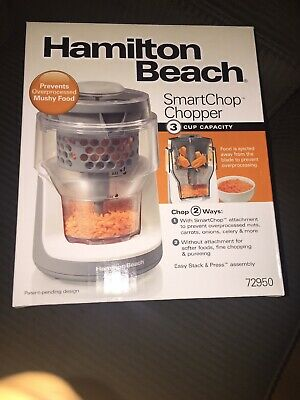 Hamilton Beach SmartChop Chopper (72950) 3 Cup Dice Easy Stack & Press Assembly