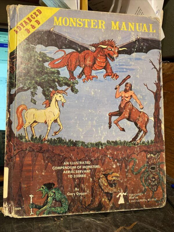 Advanced Dungeons and Dragons Monster Manual  4th edition 1979