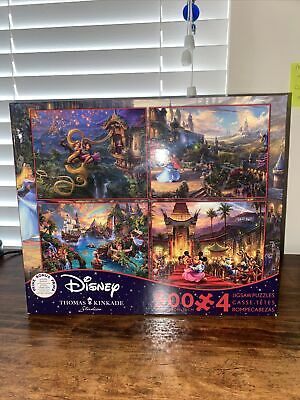 Ceaco Disney Thomas Kinkade 4-in-1 Multi Pack 500 Piece Puzzles w/Poster New
