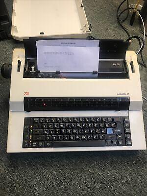 Vtg Ta Adler Satellite Iii 111 3 Ag Typewriter W Cover Storage Book Works Tested