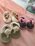 3 sets of Crochet shoes for Newborn to pre-walker Southport Gold Coast City Preview