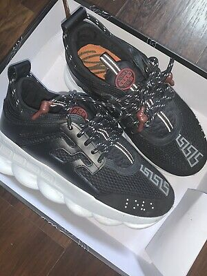 Versace Black Chain Reaction Sneakers. Great Condition, Size EU42