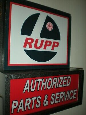 Rupp Motorcycle Snowmobile Garage Man Cave Advertising Lighted Sign