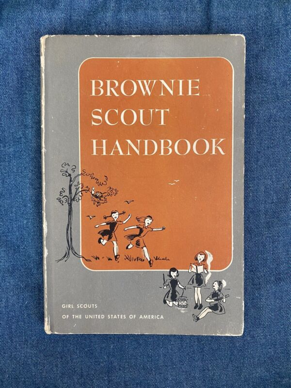 """Vintage """"Brownie Scout Handbook"""" 1951, Girl Scouts of the USA"""