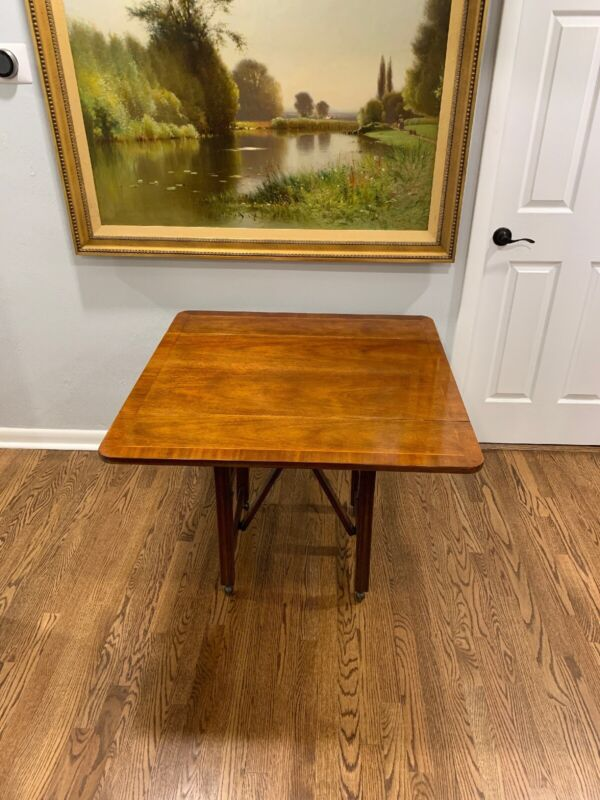 Baker Mahogany Adjustable Drop Leaf Table, Coffee Table & Console Table (Rare)
