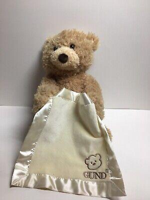 GUND BABY Peek-a-Boo Teddy Bear Animated 10 talking stuffed animal soft toy