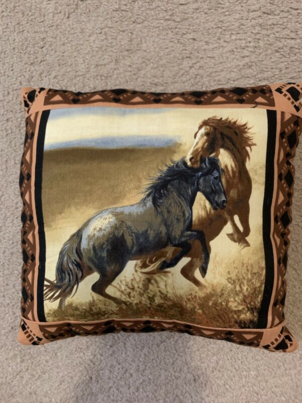 Handmade Large Horse Pillow