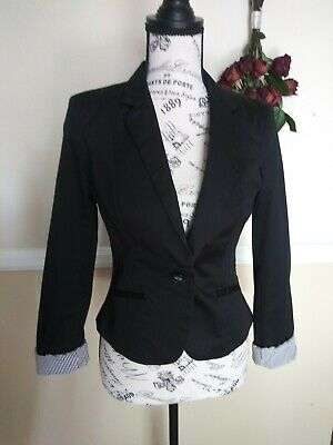 H&m Slim Fit Black Blazer Women's Size 4
