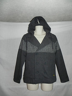 Modern Amusement Jacket Peacoat Small Mens Gray Hoodie NWT $89.50 Moderne Peacoat