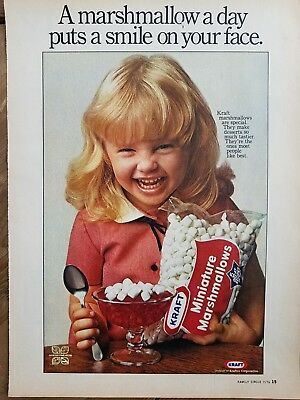 1976 Kraft Jets marshmallow cute blond little girl gelatin jello dessert ad