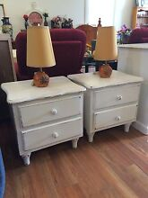 pair of shabby chic bedside tables Sandy Bay Hobart City Preview