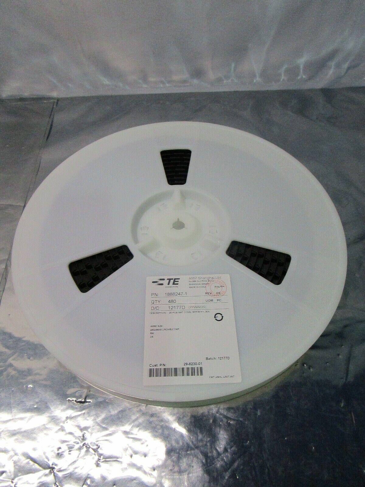 1 Lot of 480 TE connectivity 1888247-1 I/O Connectors 20 POS SMT 30um, 102588