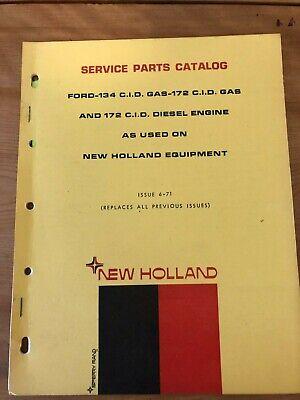 New Holland Service Parts Catalog Ford 134 Cid Gas 172 Cid Diesel Engine 1971