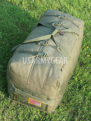 US Army Military Deployment Duffle Flight Sea Foldable Travel Bag Back Pack USGI