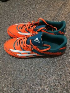 Adidas indoor soccer shoes.