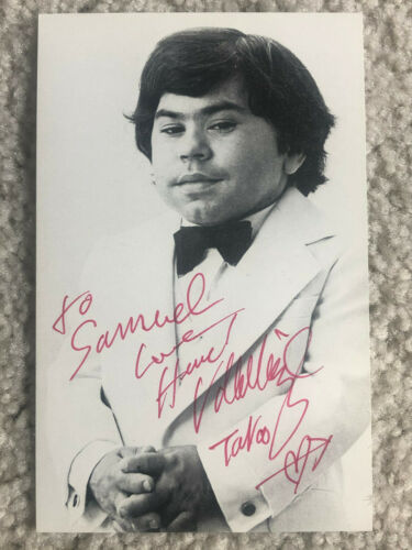 HERVE VILLECHAIZE Signed 3.5x5.5 Photo FULL SIGNATURE + TATTOO RR Auctions LOA