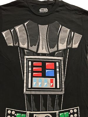 r Body Suit Costume Black T-Shirt Sz.S (Darth Vader Body Suit)