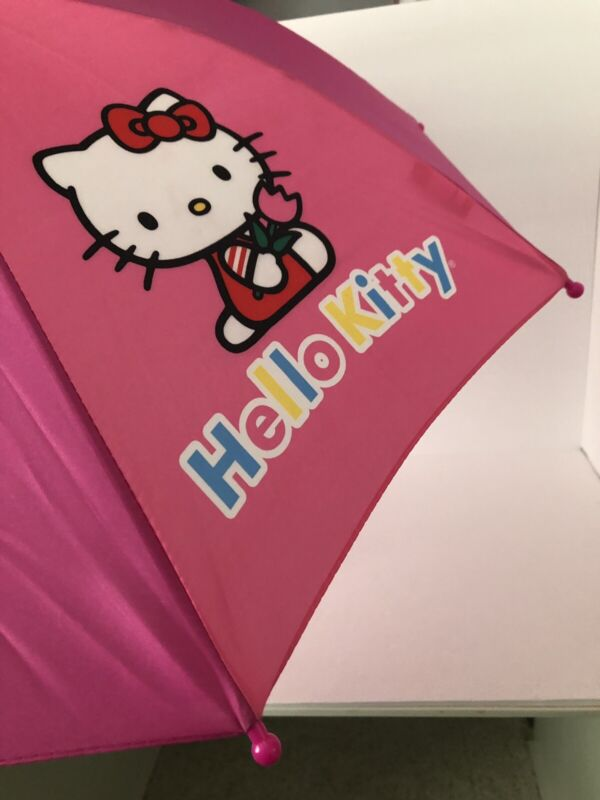 Hello Kitty Kids Girls Umbrella With Cute Handle