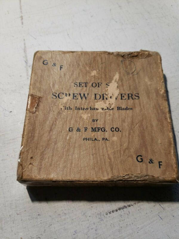 *Vintage* G & F Screwdriver Set of 6 -G & F MFG.Co.Phila,Pa.-USA *FREE SHIPPING*
