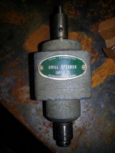"""TELCO Drill Speeder Model  5/32"""" Capacity 1/2"""" SHANK AND 1/4"""" REDUCER TAPMATIC"""