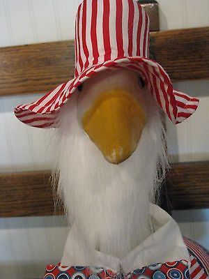 Goose Clothes: Uncle Sam Hat and Beard Goose Accesories by Silly Goose