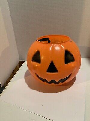 Vintage Pumpkin Jack o Lantern Blow Mold Candy Bucket Pail Empire (Clone?)