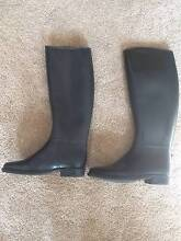 Black Rubber Long/Muckout Boots – Size 37/Size 4 Meadows Mount Barker Area Preview