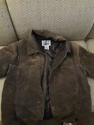 """Mens Brown Suede Leather Jacket """"City Streets"""" Size Medium  for sale  Shipping to India"""