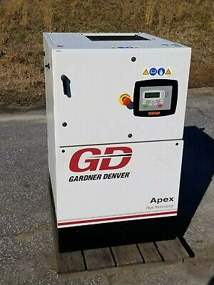 Used 7 12 Hp Gardner-denver Enclosed Rotary Compressor With Computer 230v 1ph