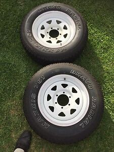 Sunraysia wheels (2 off)with near new tyres. Roseville Ku-ring-gai Area Preview