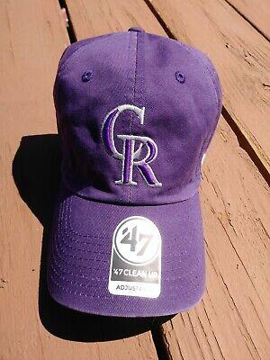 Colorado Rockies Hat (Colorado Rockies Purple '47 Clean Up Adjustable)