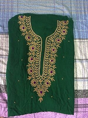 Salwar Kameez Karchupi Viscose Georgette Stone & Dupatta.UN-Stitched Fabric. for sale  Shipping to India