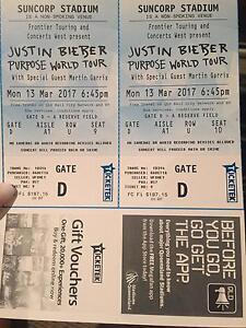 2x brisbane justin bieber tickets section A Tugun Gold Coast South Preview