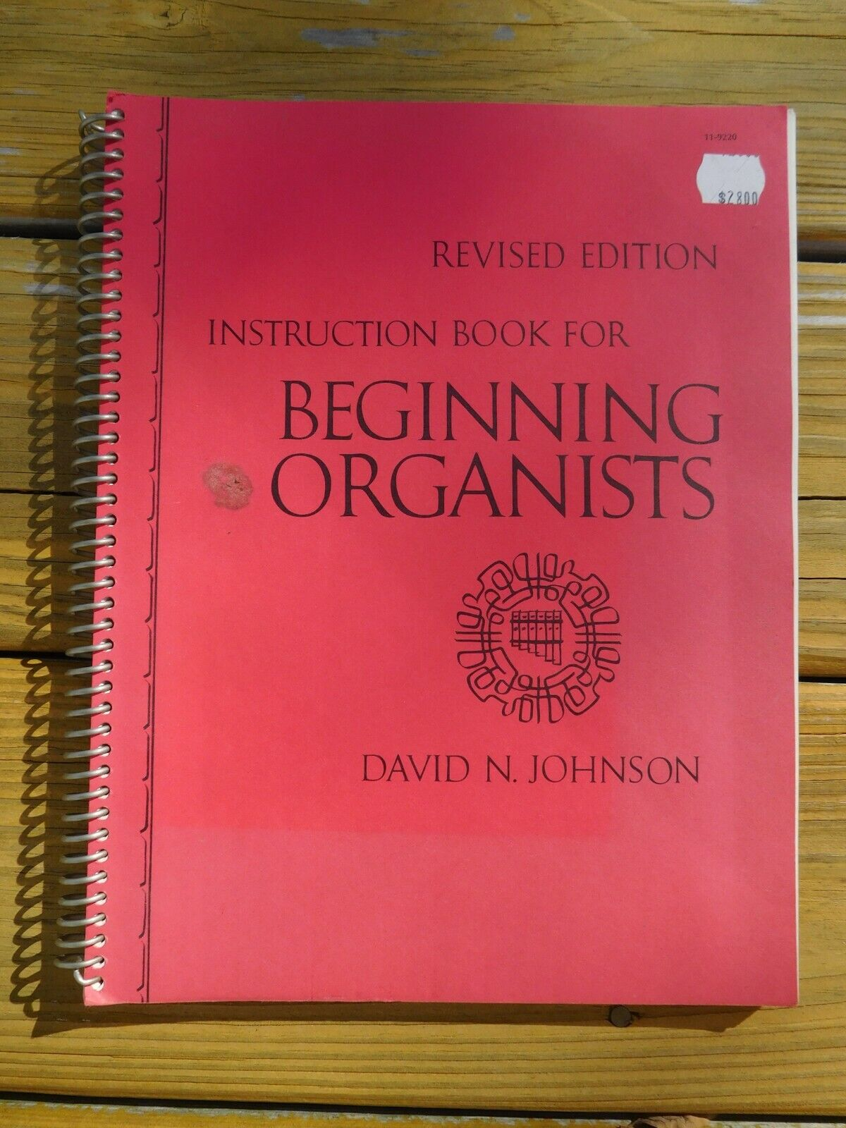 Instruction Book For Beginning Organists 1973 By David N. Johnson  - $13.95