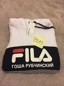Gosha Rubchinsky x Fila Hoodie in White/Grey/Black Sz XL NEW Merrylands West Parramatta Area Preview