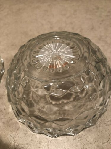 Indiana Glass American Whitehall Clear 2pc Fairly Lamp - $7.00