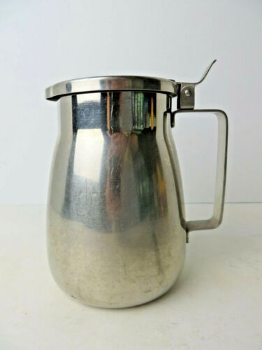 Vintage Vollroth Stainless Steel Pitcher 8231 Hinged Lid   #4532