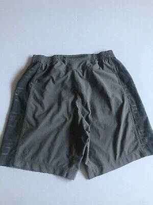 Lululemon Mens Medium Gray Athletic Workout Shorts With Drawstring