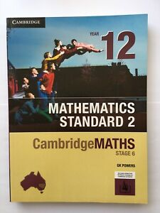CambridgeMATHS Stage 6 Mathematics Standard 2 Year 12