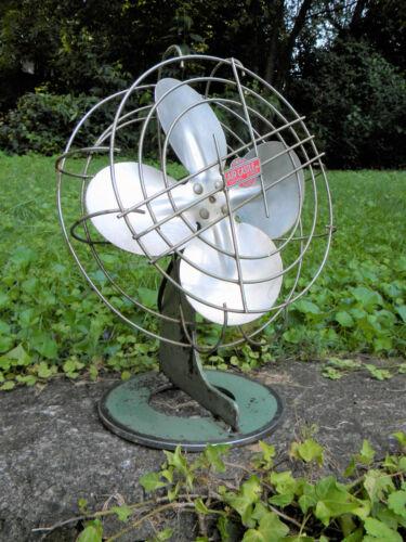 Machine age vintage Air Castle electric fan, heavy industrial steel fan